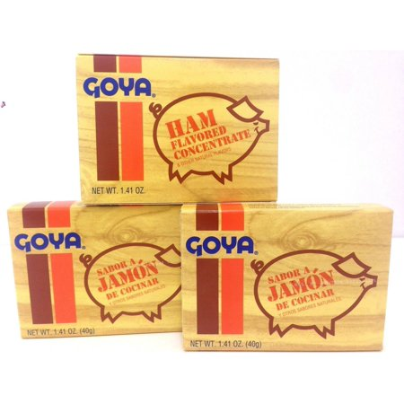 3 BOXES OF GOYA HAM FLAVOR CONCENTRATE 1.41 OZ ()