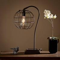 Southern Enterprises Slade Industrial Edison Style Table Lamp, Black
