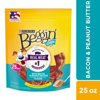Purina Beggin' Strips Dog Training Treats, With Bacon & Peanut Butter Flavor - 25 oz. Pouch