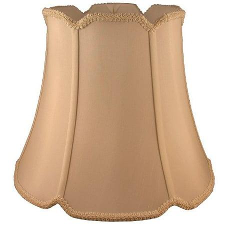 Light 16 Inch Pendant Warehouse Shade - Lampshade Round Soft Tailored Faux Silk Fabric Honey Finish 10 x 16 x 14.5 Inch