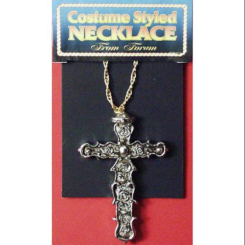 Monk Cross Costume Necklace