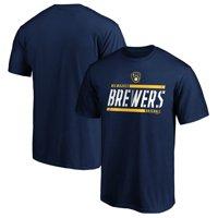 Men's Fanatics Branded Navy Milwaukee Brewers Iconic Team Gradient T-Shirt