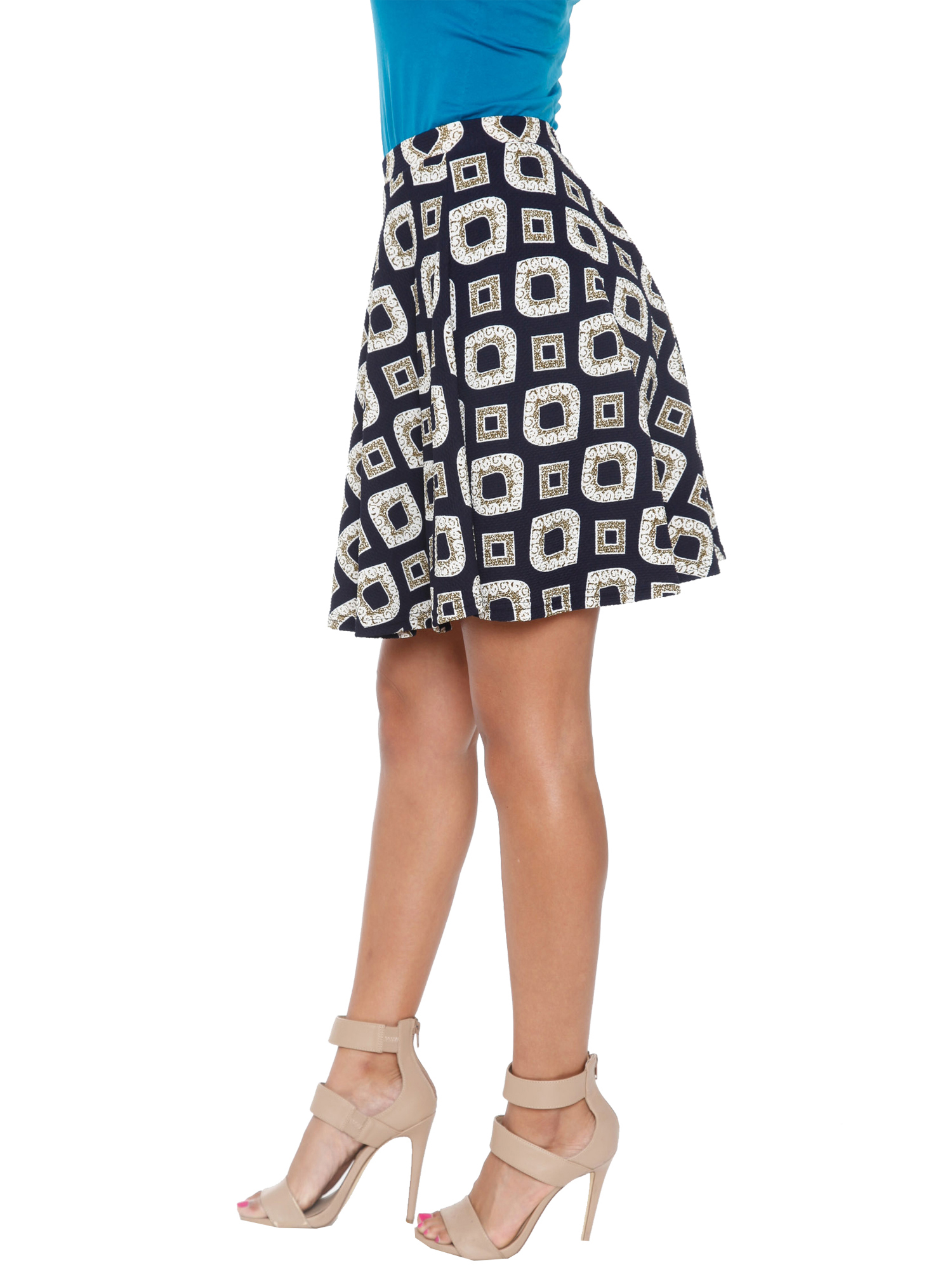 Women's Printed Fit and Flare Skirt