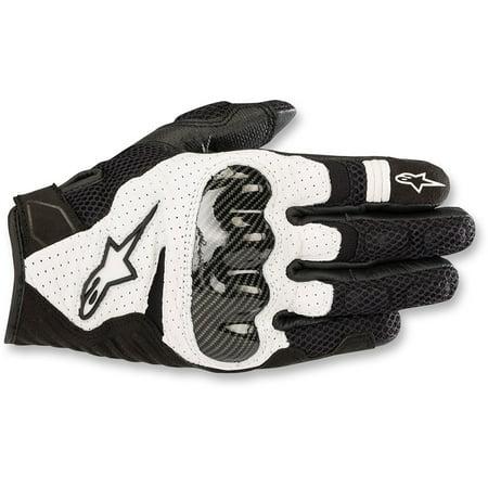 Alpinestars 2019 SMX-1 Air v2 Leather Gloves - Black/White -