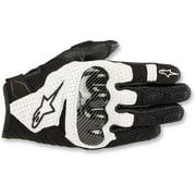 Alpinestars 2019 SMX-1 Air v2 Leather Gloves - Black/White - Small