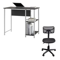 Mainstays and Urban Shop 2 Piece Office Collection: Mainstays basic metal student desk, multiple colors and Urban shop swivel mesh chair, multiple colors