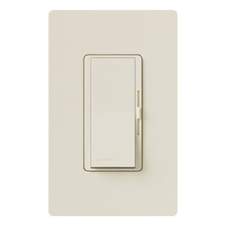 LUTRON ELECTRONICS INC Diva Single-Pole/3-Way Dimmer, 150-Watt, Almond DVWCL-153PH-LA Diva Satin Colors Dimmers
