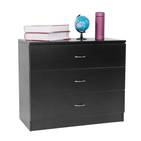 3 Drawers Nightstand in Home, MDF Wood Bedside Table, Modern Design Storage Cabinet, Pretty Deep Bedroom Furniture for Bedroom, Living Room, Weight Capacity 180 lbs, 26