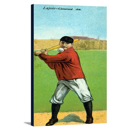 Cleveland Naps Napoleon Lajoie Baseball Card 825x18 Gallery Wrapped Stretched Canvas