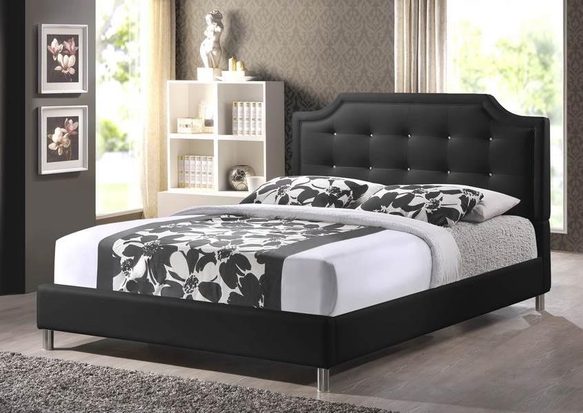 baxton studio jazmin tufted king modern bed with upholstered headboard white walmartcom