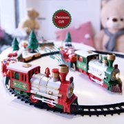 Hotwon Lights And Sounds Christmas Train Set Railway Tracks Toys Xmas Train Gift