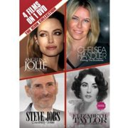 4 Films On 1 DVD: The Icon Collection Angelina Jolie   Chelsea Handler   Steve Jobs   Elizabeth Taylor by