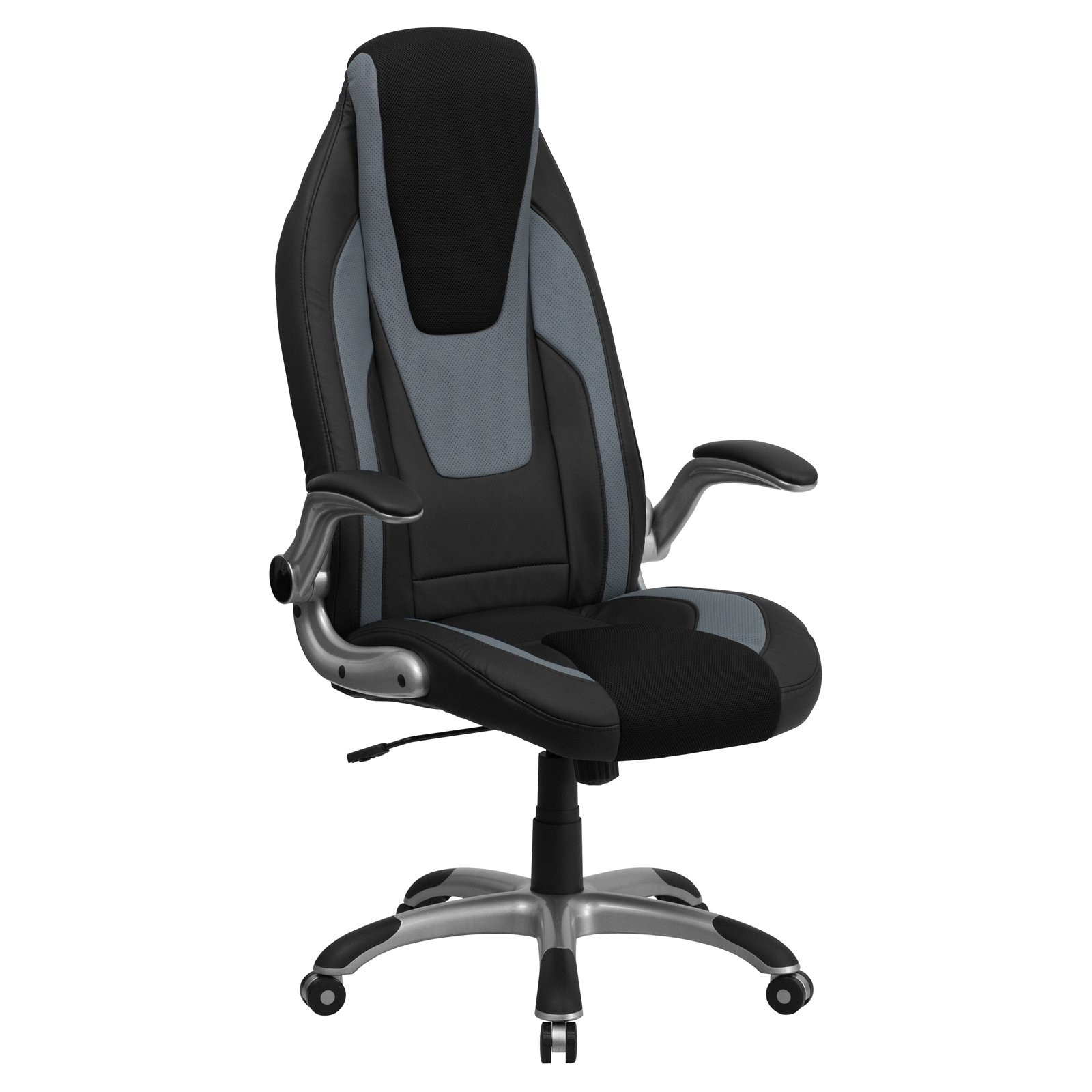 Flash Furniture High Back Vinyl Executive Office Chair, Black/Gray