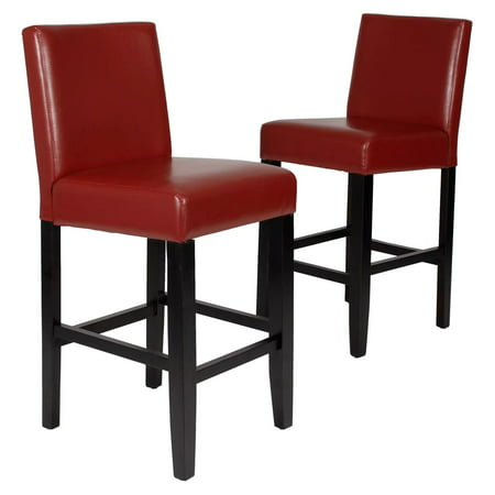 Roundhill Citylight Counter Height Barstool Set of 2, Multiple Colors Available ()