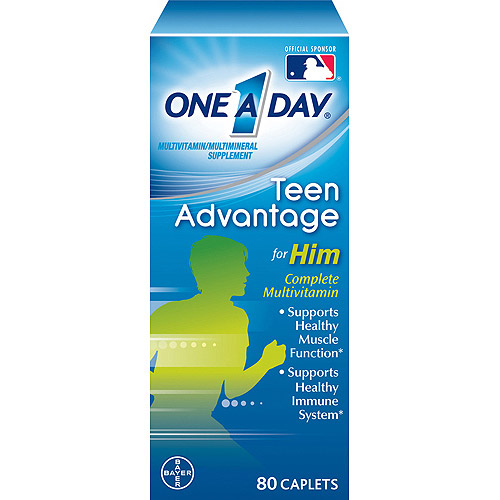 One A Day Teen Advantage For Him Multivitamin/Multimineral Supplement 80 CT