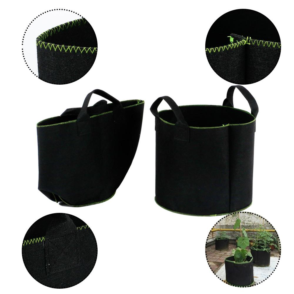 Topeakmart 8 Gallon Vegetable Patio Potato Planter Bag Felt Plants Grow Pots, Growing Bags with handles for Home Gardening 3 Pack