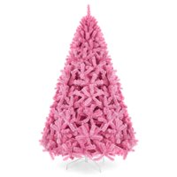 Best Choice Products 6Ft Artificial Christmas Full Tree Festive Holiday Decoration W/ 1,477 Branch Tips, Stand - Pink