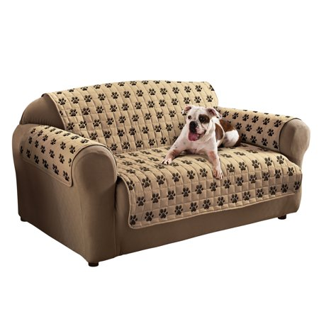 Peachy Innovative Texile Solutions Paw Prints Microfiber Protector Andrewgaddart Wooden Chair Designs For Living Room Andrewgaddartcom