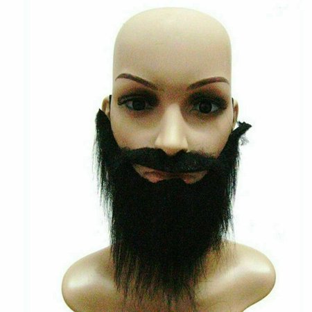 TURNTABLE LAB Fake Beard Mustache Men Stage Function Make Up Props Whiskers - Fake Moustache And Beard