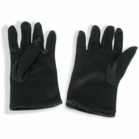 Theatrical Black Gloves Child Halloween Costume Accessory - Hollywood On Halloween