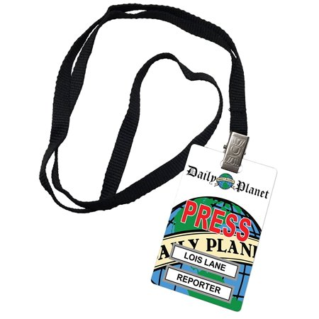 Lois Lane Daily Planet Press Pass Novelty ID Badge Prop Costume By cheapyardsigns Ship from US - Lois Lane Costume Ideas
