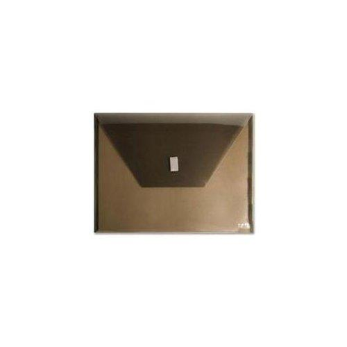 "Itoya Polyenvelope Vinyl File Pocket - Letter - 8.50"" X 11"" - Polypropylene - Transparent Smoke - 1 Each (PE20SM)"