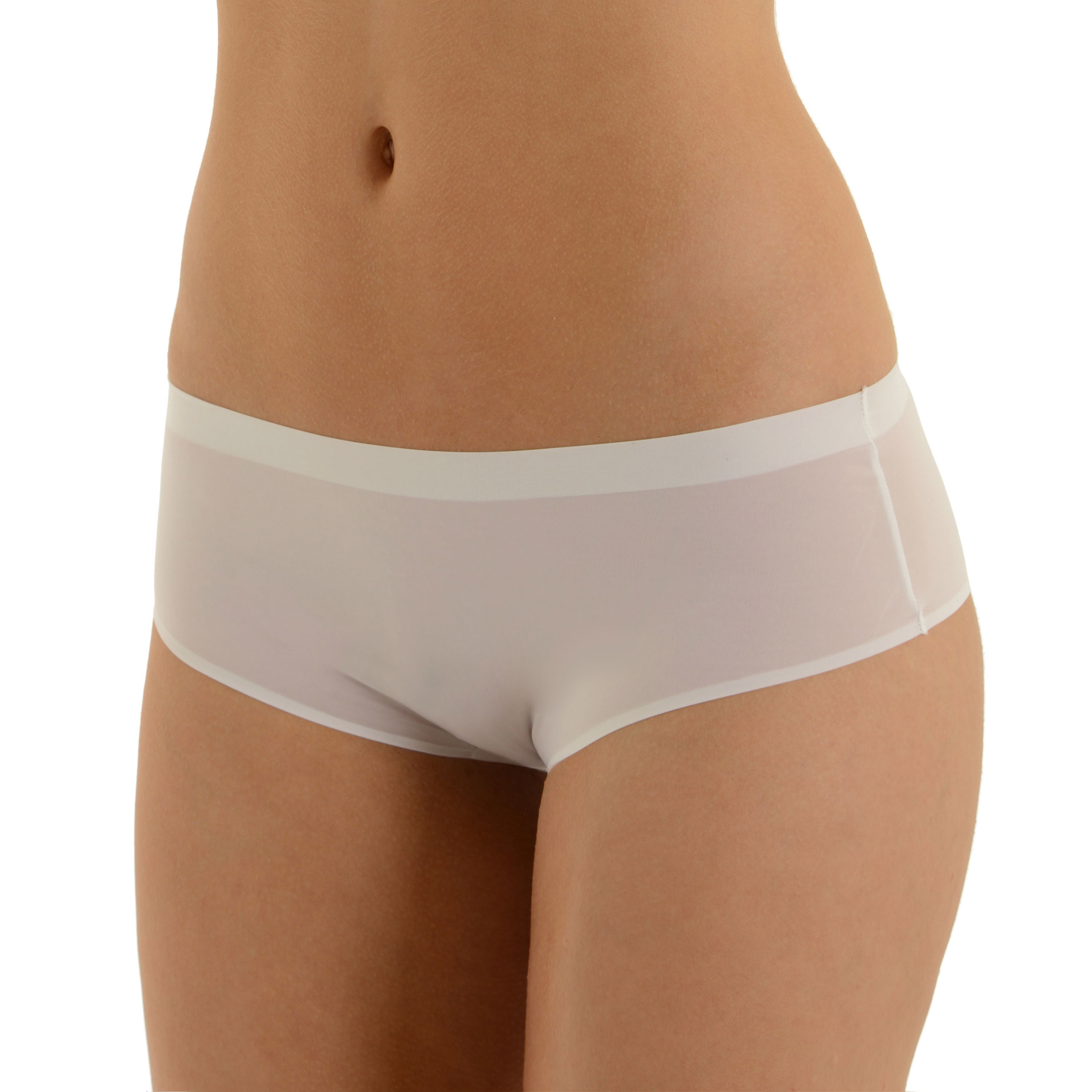 White Hipster Panties Womens No Show Low-Rise Cheeky Panty ...