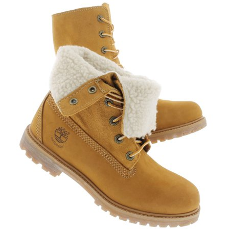 Timberland Authentics Teddy Fleece Waterproof Fold Down Stiefel für Damen Beige