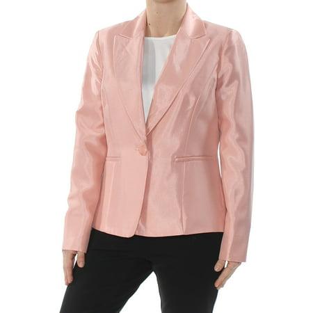 LE SUIT Womens Pink One Button Blazer Jacket  Size: 4