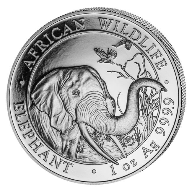 2018 Silver Elephant 1 oz Coin