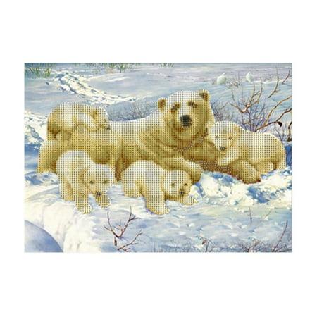 Polar bear 6447 Square Art Painting DIY Handmade Diamond Painting Cross Stitch - image 8 of 9