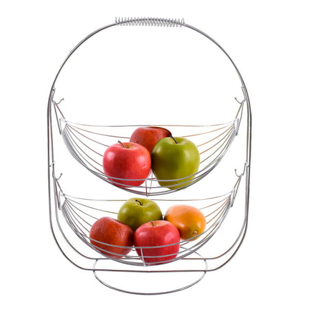 The Kitchen Sense 2-tier Chrome Plated Wire Swinging Fruit Basket](Fruits Basket Halloween)