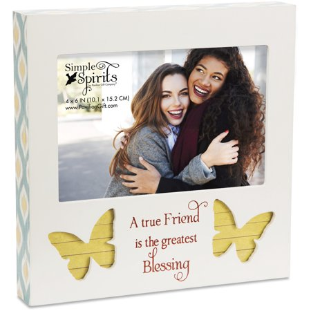 Pavilion - A True Friend is the Greatest Blessing - Butterfly 4x6 Picture Frame - Butterfly Pavilion Coupon