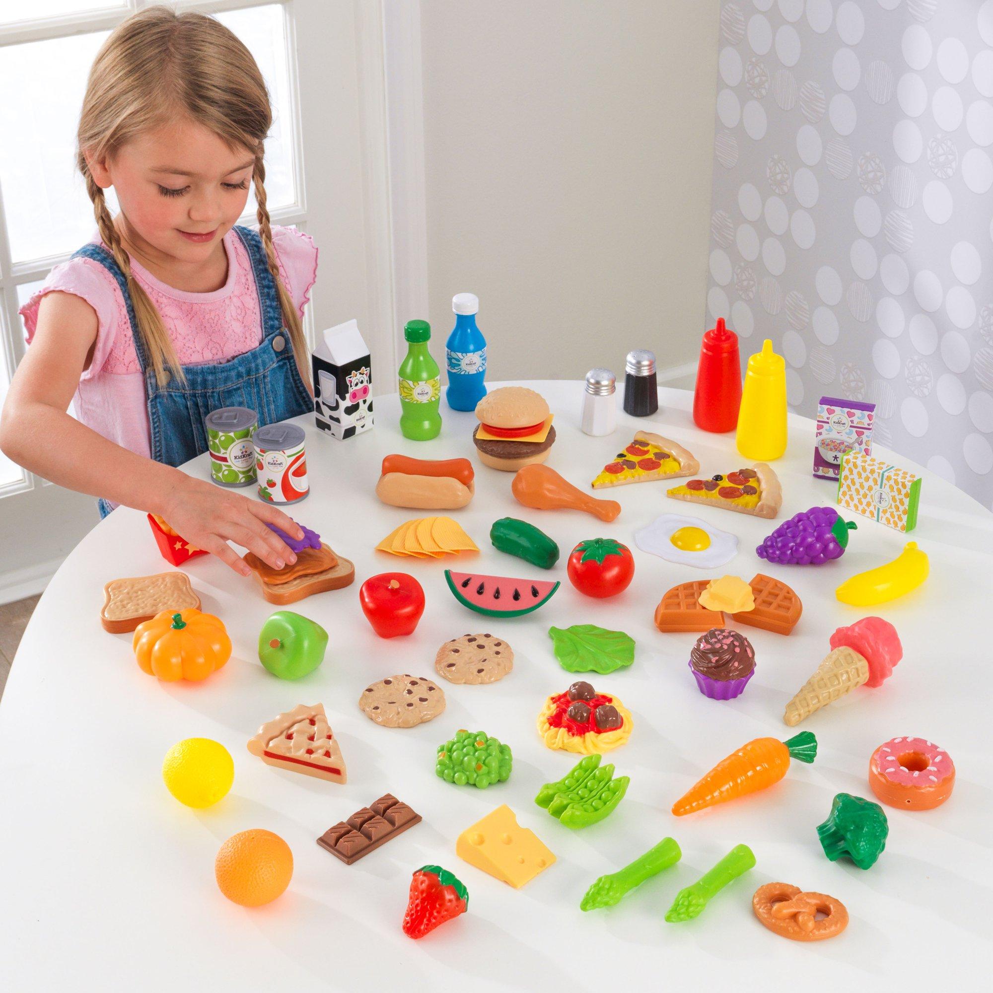 Buy Kidkraft 65 Pc Play Food Set Cheapest Kidkraft Deals And Reviews