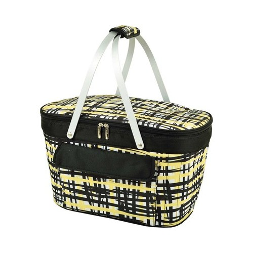 "Picnic at Ascot Collapsible Insulated Basket Cooler  10.5"" x 18.5"" x 11.5"""
