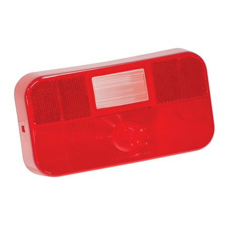 Backup Light Lens - Bargman 34-92-713 Surface Mount Taillight #92 - Replacement Lens w/ Backup and License Bracket