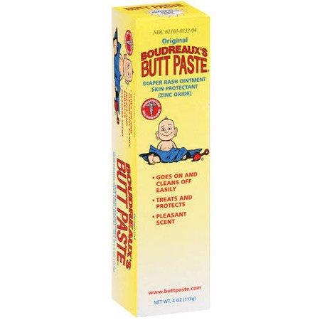 Boudreaux's Butt Paste Diaper Rash Ointment - Original - Paraben and Preservative-Free - 4 Oz