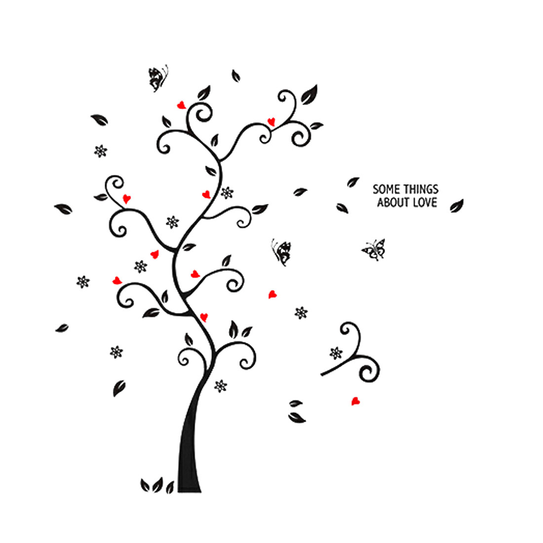 Unique Bargains Decorative Black Tree Branches Design Wall Art Sticker Decal Wallpaper Decor