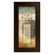 The James Lawrence Company Words of Grace 'Life is to be Enjoyed' Framed Textual Art