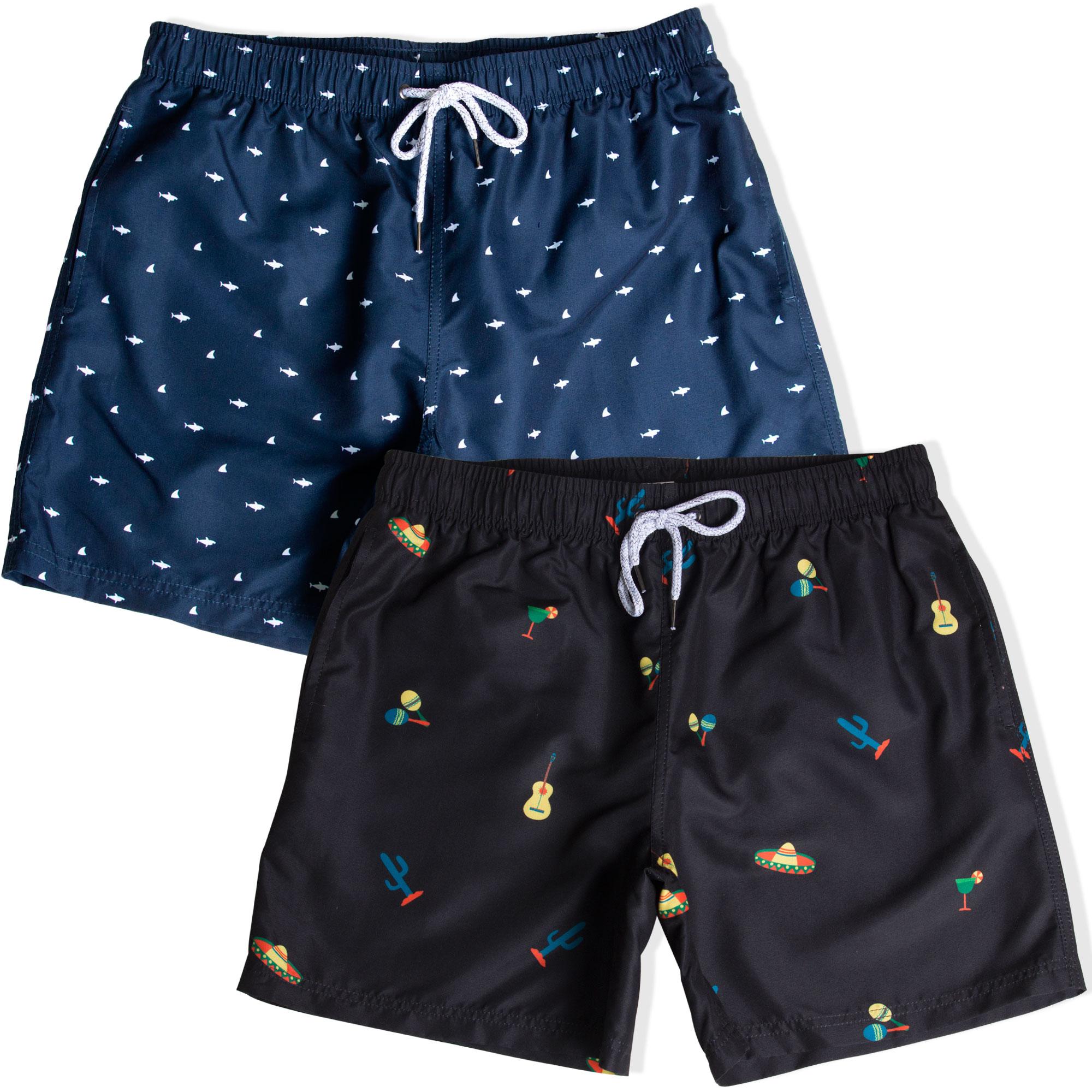 Girls Marine Blue Board Shorts