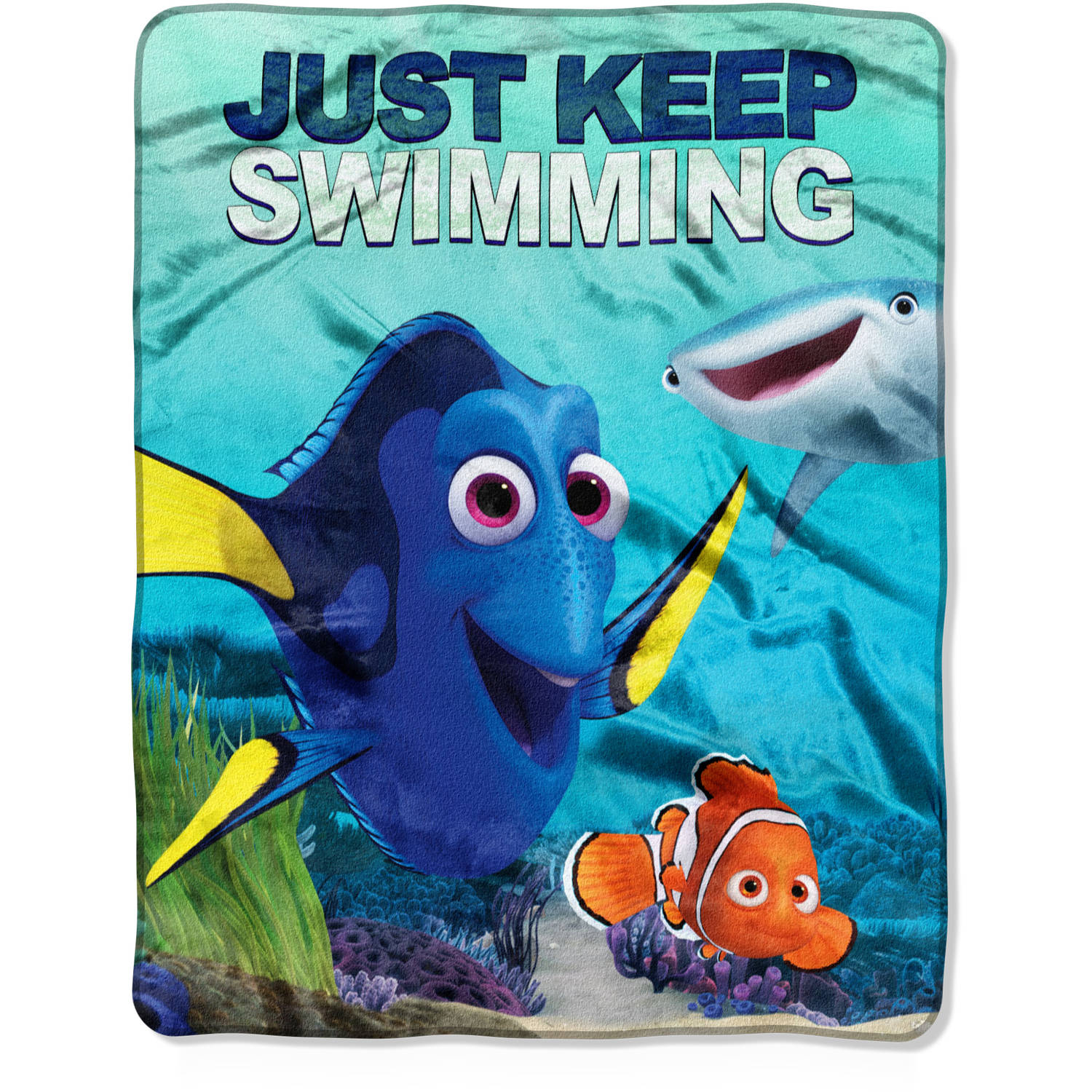 "Disney Finding Dory ""Beach Welcome"" 40"" x 50"" Silk Touch Throw"