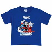 Personalized Thomas & Friends #1 Engine Toddler Boy Royal Blue T-Shirt