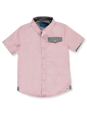 Perry Ellis Boys' Stripe S/S Button Down Shirt (Toddler)