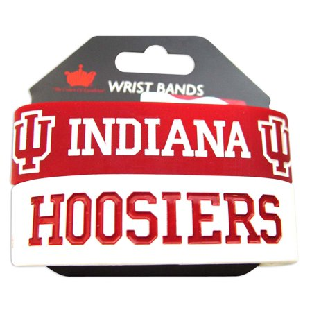 NCAA Indiana Hoosiers Sports Team Logo Rubber Wrist Band Set of 2