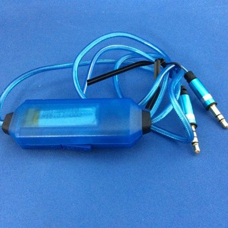 Electro Luminescent Analog - Refurbished Light Pulse Auxiliary Cables - Blue Electroluminescent Audio Response Auxiliary Cable