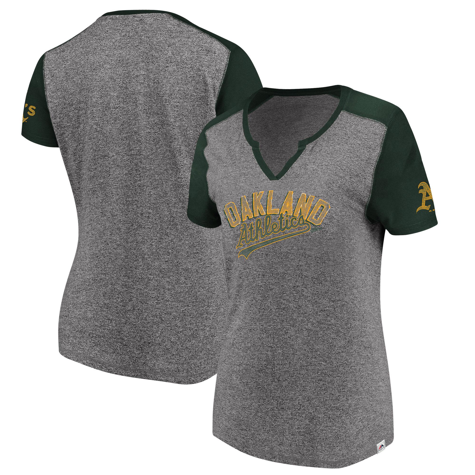 Oakland Athletics Majestic Women's Invulnerable T-Shirt - Gray