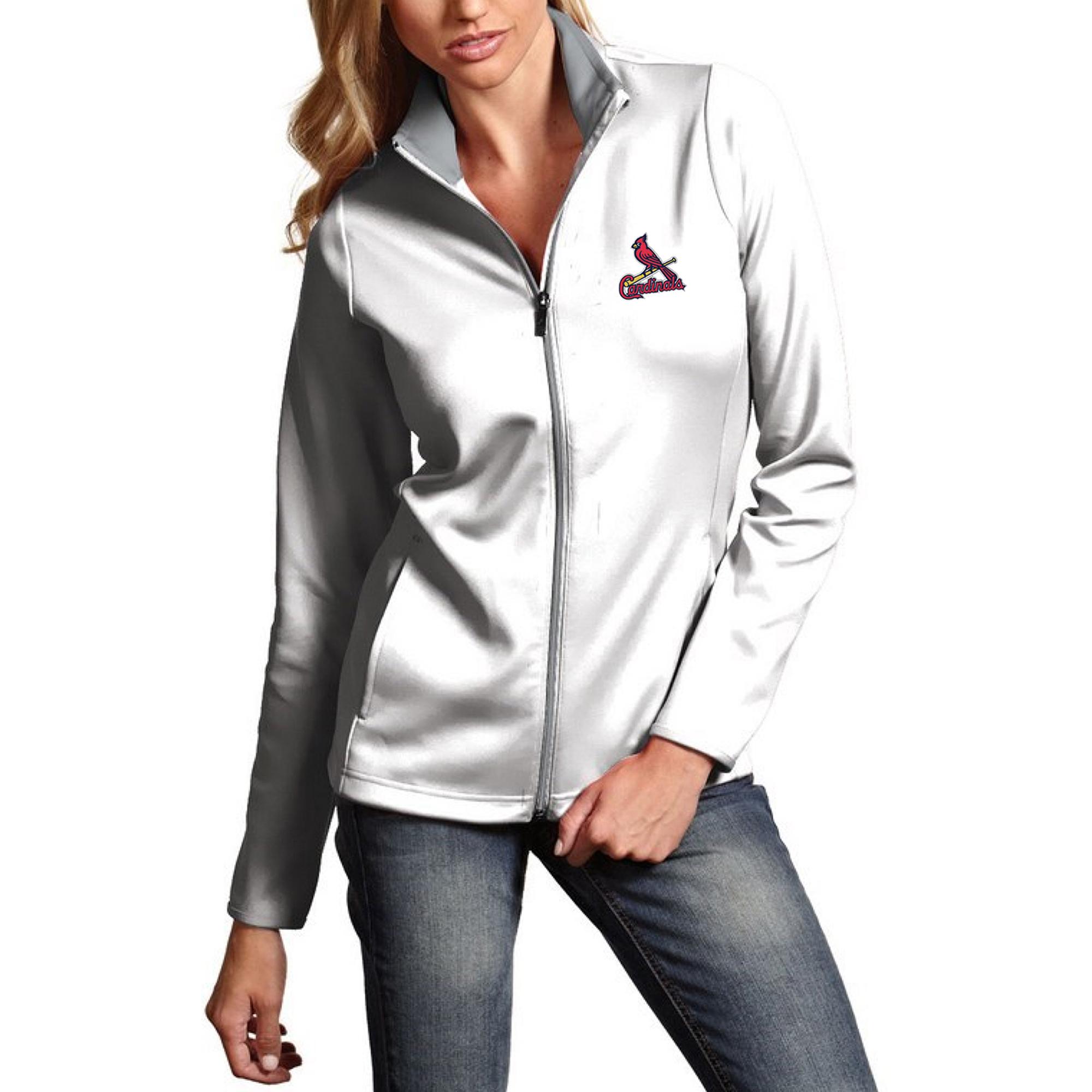 St. Louis Cardinals Antigua Women's Leader Full-Zip Jacket - White