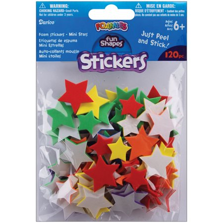 Foam Stickers, 120pk - Star Stickers
