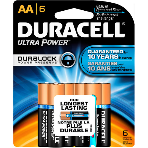 Duracell Ultra Power Now with Power Check AA Batteries, 6 count