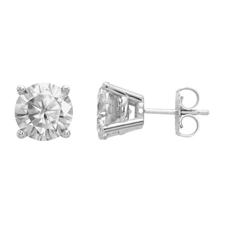 Radiant Fire® Certified Lab Grown 2 Ct Round Diamond Stud Earrings, SI1/SI2 clarity, G H I color, in 14K White Gold